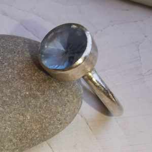 Silver topaz ring, Semi - precious gemstone ring, , handmade sterling silver ring, silver jewellery, silver handmade jewellery, made to measure, bespoke jewellery, made in Britain, handcrafted jewellery, blue marble jewellery, etsy shop, urban makers, London makers, gift for her
