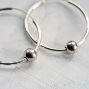 Silver hoop earrings, Sterling silver hoop earrings